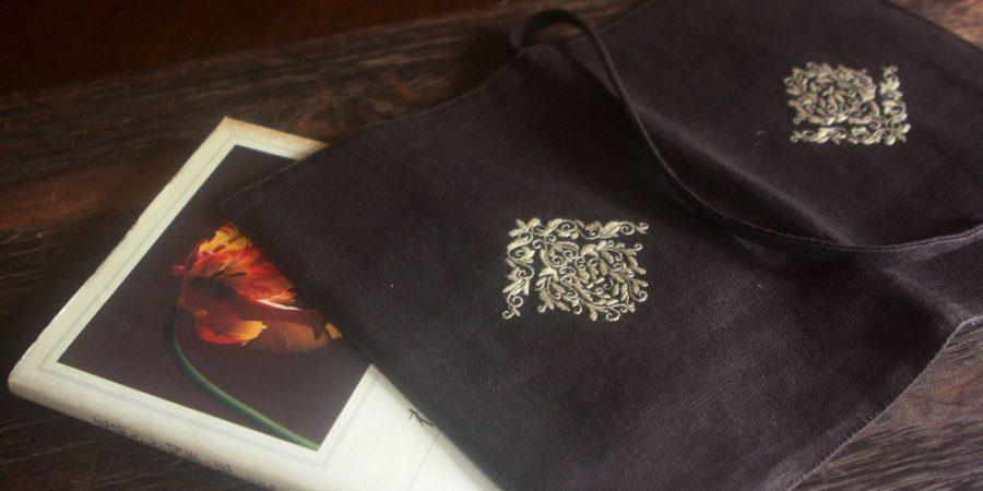 ベトナム刺繍ブックカバー