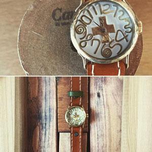 宮井ありささんの手作り時計