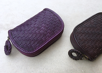 鹿革モザイク財布