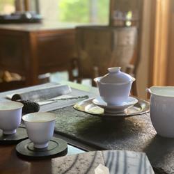 一華オリジナル茶器 景徳鎮製蓋碗セット《紫藤花》