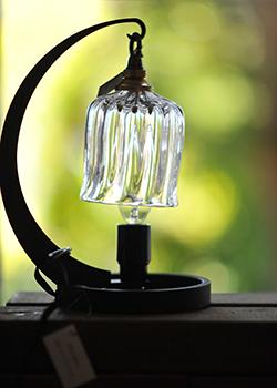 吹きガラスの照明